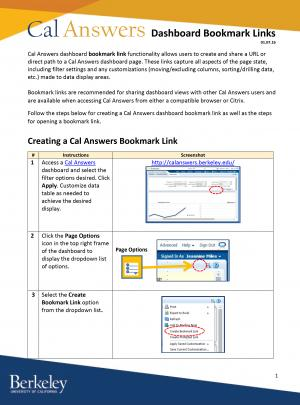 cal answers bookmark link job aid